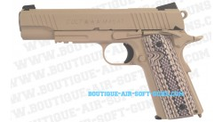 Réplique CO2 Colt 1911 Rail Gun M45 A1 TAN - 6mm