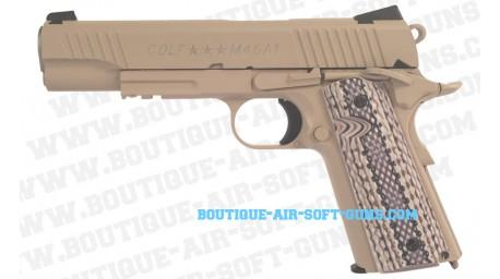 Réplique CO2 Colt 1911 Rail Gun M45 A1 TAN - 6mm