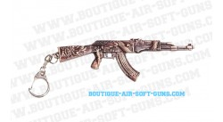 Porte-clé Kalashnikov AK47 métal avec motif dragon