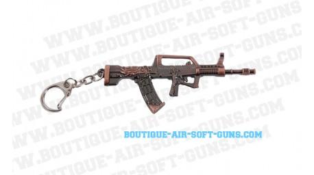 Porte-clé fusil QBZ-95 métal bronzé