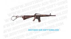 Porte-clé fusil M16 dragon métal bronzé