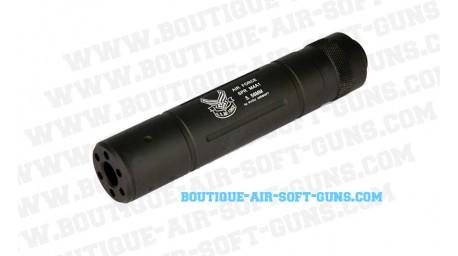 Silencieux US air force noir airsoft pour 14 mm