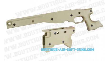 Coque et crosse Sable pour Sniper AW .338
