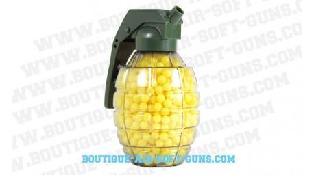 Grenade de 800 billes jaunes (0.12grs) pour réplique spring