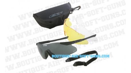 Lunettes ESS ICE3 noire + 3 jeux de verres HD