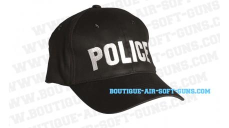Casquette noire - POLICE pour airsoft et déguisement