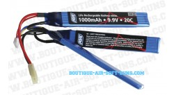 Batterie airsoft Life 1000mAh 9.9V - 20C