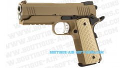 Réplique airsoft pistolet M1911 Desert Warrior hi-capa 4.3 TAN