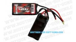 Batterie répliques airsoft Lipo 7.4V 1200mAh