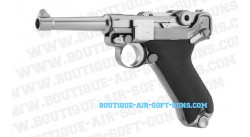 Pistolet airsoft WE P08 agrenté Gaz GBB - cal 6mm bbs