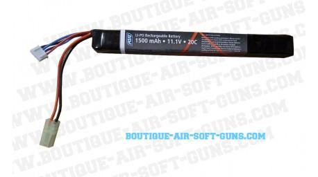 Batterie rechargeable airsoft Li-po 1 bloc 1500mAh - 11.1V