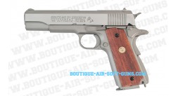 Pistolet airsoft Colt 1911 government MK IV series 70 silver - cal 6mm bbs