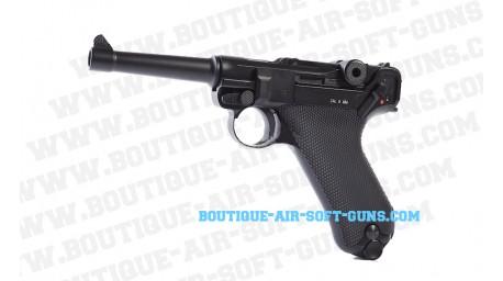 Réplique pistolet airsoft CO2 KWC P08 full metal canon 4 pouces - cal 6mm