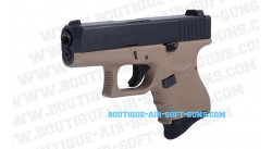Réplique airsoft GBB WE pistolet G27 series tactical TAN Gen4 - calibre 6mm bbs