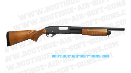 Réplique airsoft d'un fusil à pompe ST870 version Police à canon court - cal 6mm
