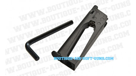 Chargeur metal airsoft CO2 pour Colt 1911 rail gun series 6mm 17 billes