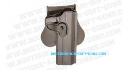 Holster ceinture rigide Colt 1911 pour droitier finition FDE