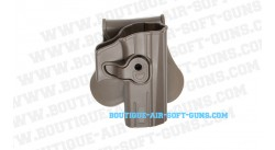 Holster ceinture polymère pour pistolet CZ P-07 finition FDE