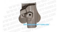 Holster droitier en polymère durable G series FDE