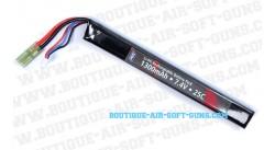Batterie rechargeable Li-Po 1300mAh 7.4V 25C