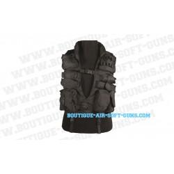 Gilet assaut noir multi poches pour airsoft