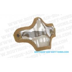 Masque protection Stalker grille couleur sable avec dessin crâne