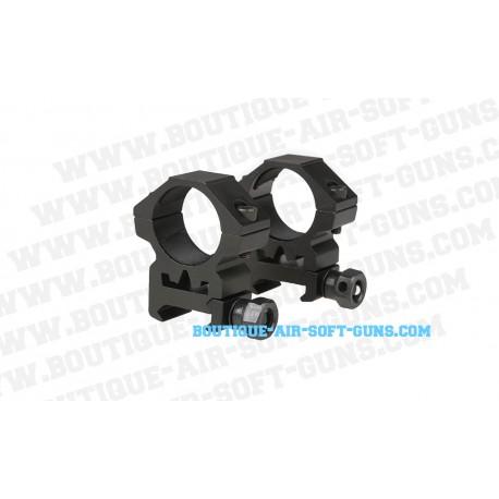 Colliers de montage bas pour lunette 25mm RIS