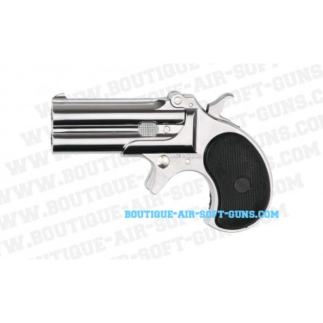 Pistolet airsoft Derringer mod GNB silver à gaz - cal. 6mm