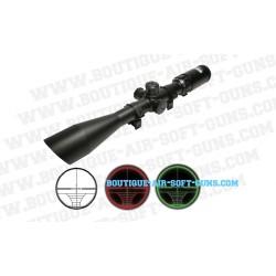 Lunette airsoft Swiss Arms à réticule lumineux RGB - 6-24x50