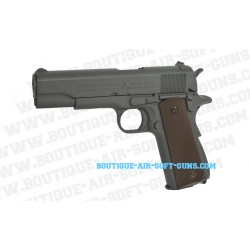 Réplique airsoft CO2 pistolet Colt M1911 A1 finition grey metal - 1.1 joule