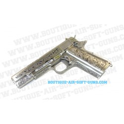 Pistolet réplique airsoft WE 1911 floral pattern GBB - 0.9J