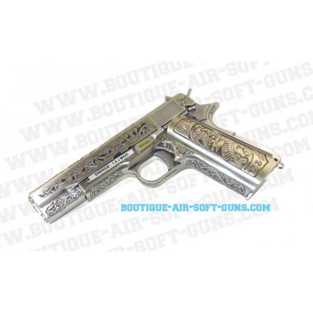 Pistolet réplique airsoft WE 1911 floral pattern GBB - 0.9J