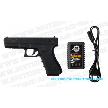 Pistolet AEG airsoft éléctrique Yakuza Delta tactics full auto - 0.5 joule