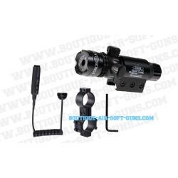 Pointeur laser rouge Delta Tactics pour rail tactique pour pistolets ou revolvers