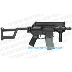 Réplique AEG fusil compact Amoeba M4 CCR noir 0.7J - calibre 6mm bbs