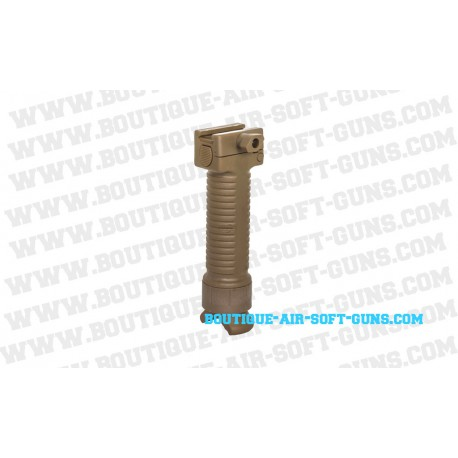 Tactical Bipod Grip Tan (battle axe)