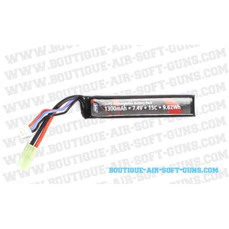 Batterie Li-po 15C 1300 mAh 7.4V de 9.62Wh
