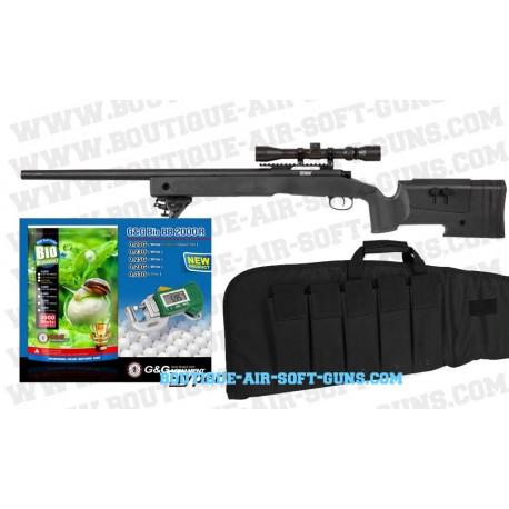 Pack prêt à tirer fêtes des pères Sniper M40 Airsoft avec lunette
