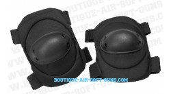 Set de protection 2 coudières noires - airsoft et paintball