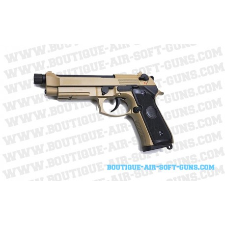 Pistolet M9 A1 Tan KJ Works Gbb