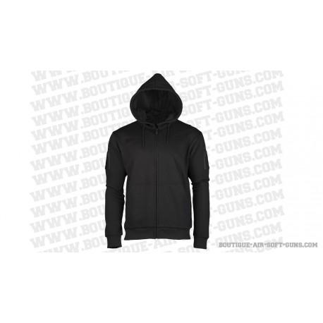 Sweat shirt tactique avec capuche noir, tailles aux choix