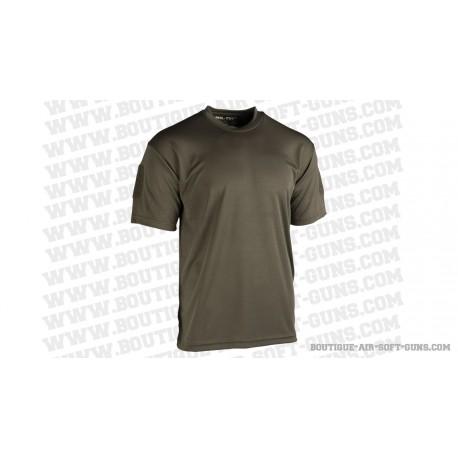 Tee shirt tactique quickdry kaki, taille aux choix