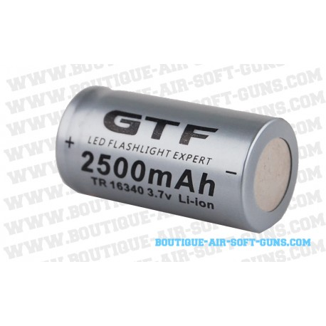 Batterie CR123A (16340) Li-ion de 2500 mAh