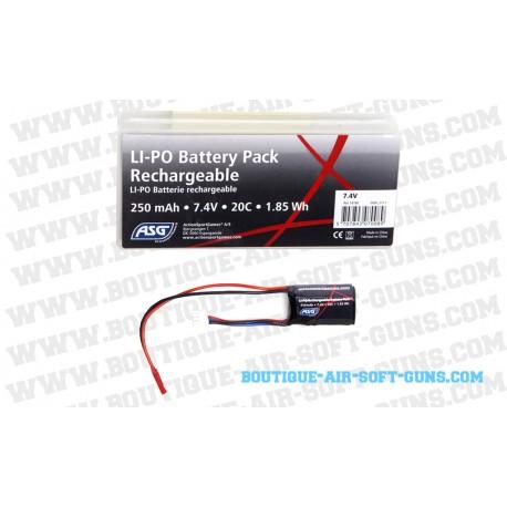 Batterie Li-Po 250 mAh, 7.4V 20C pour arme HPA