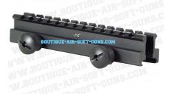 Rail surélévateur 22mm weaver picatinny universel pour AEG