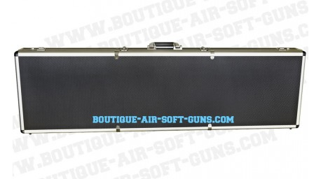 Mallette aluminium noire - 131 cm
