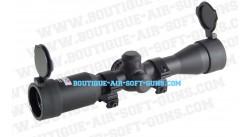 Lunette de visée 4x32 Swiss Arms avec réticule lumineux - Montage 22 mm