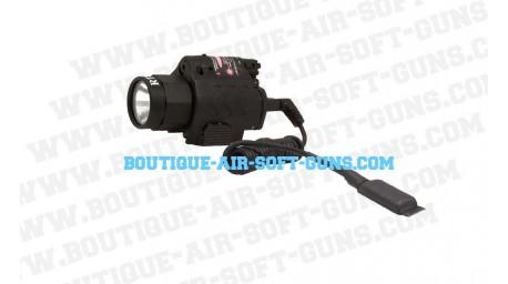 Lampe et Laser avec switch déporté