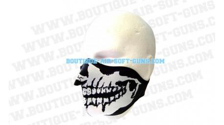 Bas de masque en néoprène motif tête de mort